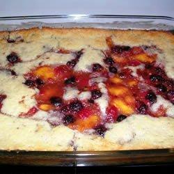 Peach Raspberry Cobbler recipe