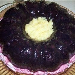 Blueberry Congealed Salad recipe