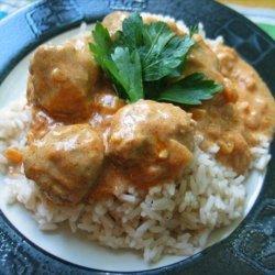 Lamb Meatballs with Spicy Tomato Cream Sauce recipe