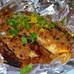 Almond Crusted Tilapia With Caramelized Onions #RSC recipe