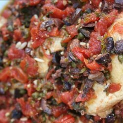 Chicken Thighs With Tomatoes, Olives and Capers recipe