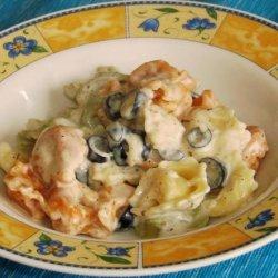 Tortellini With Garlic Cream Sauce recipe