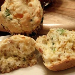 Savory Cheese Muffins With Bacon and Chives recipe