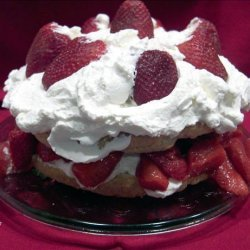 Old Fashioned Strawberry Shortcake with Sweetened Flavoured Whipped Cream recipe