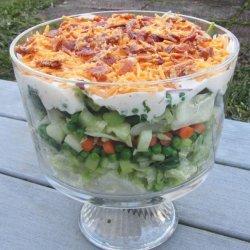 Yummier Ranch Layer Salad #RSC recipe