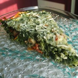 Crustless Spinach Ricotta Quiche recipe