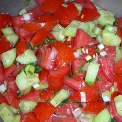 Tomato Cucumber Salad (Salad Shirazi) recipe