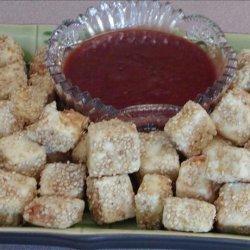 Deep Fried Tofu With Asian Plum Sauce or Thai Peanut Sauce recipe