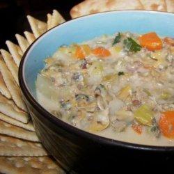 Chunky Vegetable Clam Chowder recipe