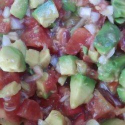 Tomato and Avocado Salad a La Caribe recipe