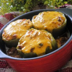 Cheesy Stuffed Bell Peppers recipe