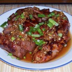 Chinese BBQ Pork with Garlic Sauce recipe