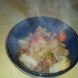 Ground Beef & Cabbage Stew recipe