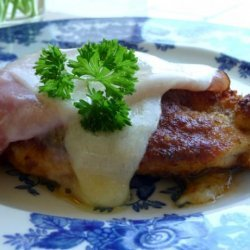 Inside-Out Chicken Cordon Blue recipe