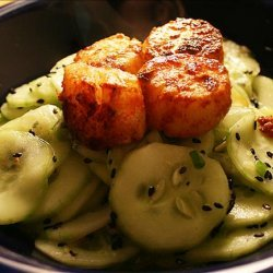 Cucumber Salad with Spicy Wasabi Dressing recipe