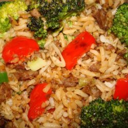 Kittencal's Ground Beef Fried Rice recipe