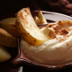 Potato Wedges With Roasted Garlic Dip recipe