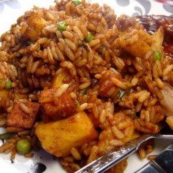 Pineapple Fried Rice With Ham recipe