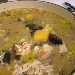 Turkey and Dressing Soup (Use up Those Leftovers Soup) recipe