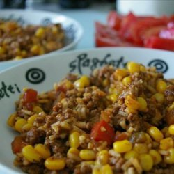 Beef Taco Rice Skillet recipe