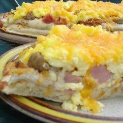 3 Meat Breakfast Pizza recipe