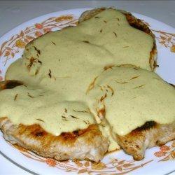 Pork Chops With Mustard & Sour Cream Sauce recipe