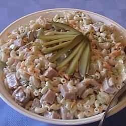 Ham and  Cheddar Macaroni Salad recipe