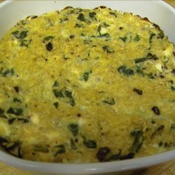 Brown Rice With Spinach and Feta Cheese recipe