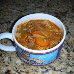 Cabbage and Ground Beef Soup recipe