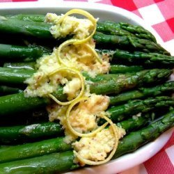Asparagus With Lemon and Parmesan Butter recipe