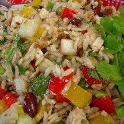 Macrina's Orzo Salad With Cucumber, Bell Pepper, Basil and Feta recipe