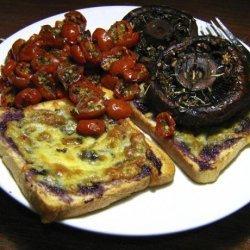 Strawberry Cheese Open-face Sandwich recipe