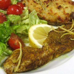 Baked Fish with Lemon & Black Pepper recipe