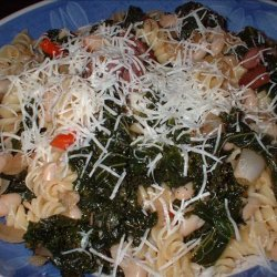 Macaroni With Kale and White Beans recipe