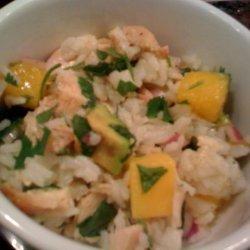 Chicken, Mango, and Rice Salad recipe