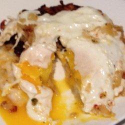 Cheddar Stuffed Potato Cake and Egg #5FIX recipe