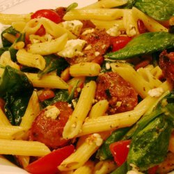 Penne With Spinach and Feta recipe