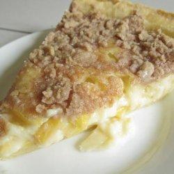 Peach Custard Pie With Streusel Topping recipe