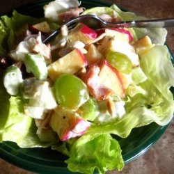 Leftover Chicken Ranch Salad recipe