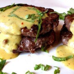 Beef Patties With Cream Sauce recipe