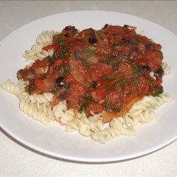 Spinach, Olive and Chilli Tomato Sauce for Pasta recipe