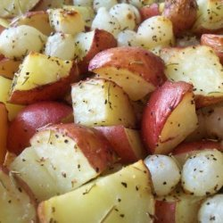 Potatoes and Onions (Adapted from Giada De Laurentiis) recipe