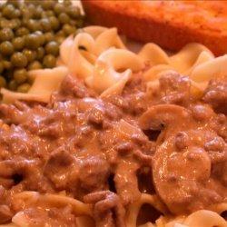 Quick and Easy Ground Beef Stroganoff recipe