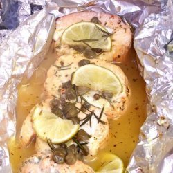 Salmon With Lemon Capers and Rosemary recipe