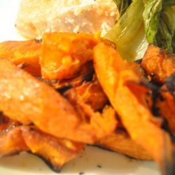 Oven Roasted Sweet  Potato Wedges recipe