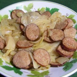 Kielbasa, Cabbage, and Onions (Low-Carb Slow Cooker Crock Pot) recipe