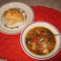 Italian Sausage Bean and Spinach Soup recipe