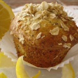 Lemon Oatmeal Poppy Seed Muffins recipe