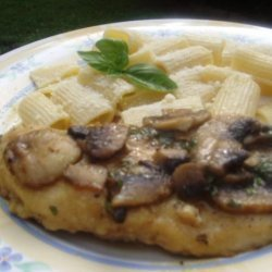 Basil Chicken Marsala With Mushrooms recipe