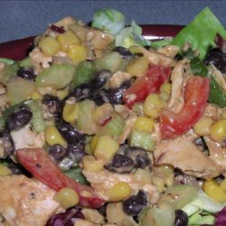 Barbecue Ranch Chicken Salad recipe